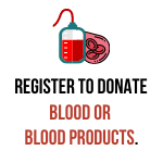 register to donate blood or blood products